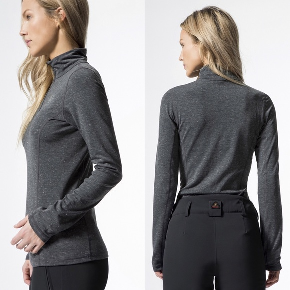 los angeles a few days away hot sale online Bogner Fire & Ice Alexia 2 Gray 1/4 Zip Baselayer